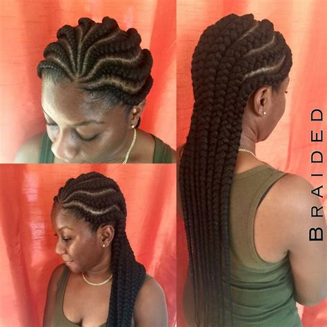 the back of cornbraid hairstyles jumbo braids goddess braids pinterest jumbo braids