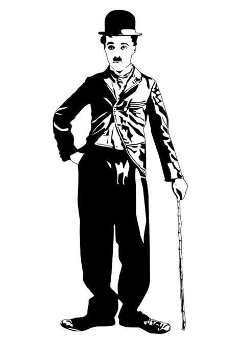 Coloriage Charlie Chaplin - Coloriages Gratuits à Imprimer