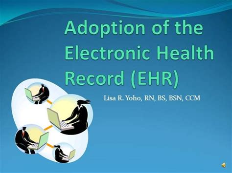 Adoption Of The Electronic Health Record Authorstream Ehr Powerpoint Templates