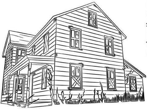 Wood House Coloring Pages | house made from wood in houses coloring page house made