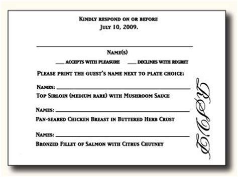 wedding response cards wording 5 types of wedding rsvp card wording paperblog