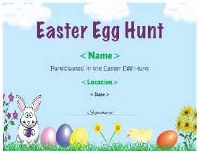 easter egg hunt template free easter egg hunt certificate