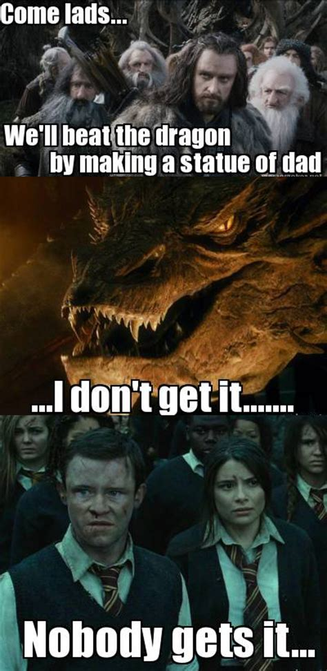 The Hobbit Memes - smaug and the statue know your meme