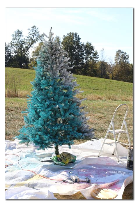 spray painted christmas trees how to paint a tree sugar bee crafts
