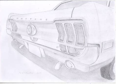 subaru emblem drawing pencil drawing of the rear of a 1967 ford mustang http