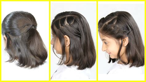 simple cute hairstyles   shortmedium hair