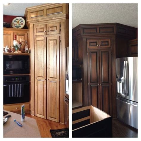 tone java  antique walnut stained kitchen cabinets staining cabinets java gel stains