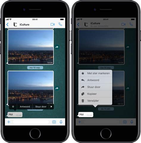 whatsapp aangepast voor iphone xs max eerste screenshots mode
