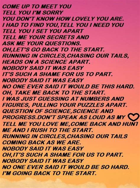 coldplay the scientist lyrics the scientist coldplay lyrics www imgkid com the image