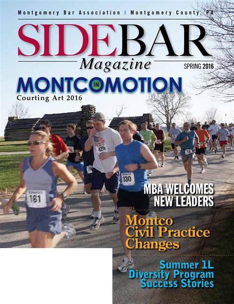Diversity Mba Magazine Address by Montgomery Bar Association Sidebar 2016 By