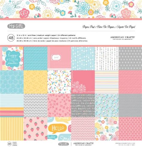American Craft Paper - american crafts paper pad 12 by 12 inch my