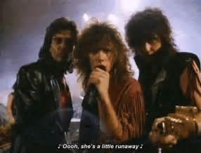 bon jovi runaway 80s music bon jovi gif wifflegif
