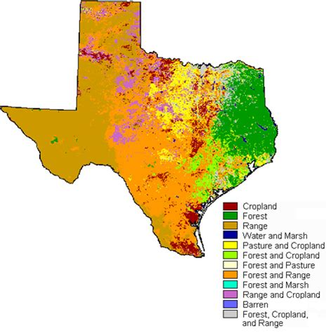 climate map of texas land and climate texas