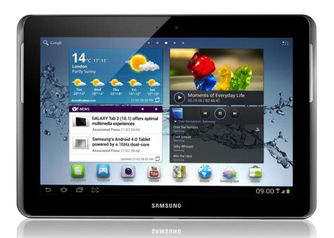 galaxy tablet samsung unveils galaxy tab 2 10 1 with sandwich