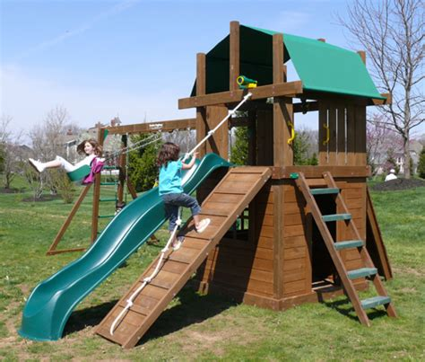 backyard playthings williamsburg iii clubhouse deluxe play gym by creative