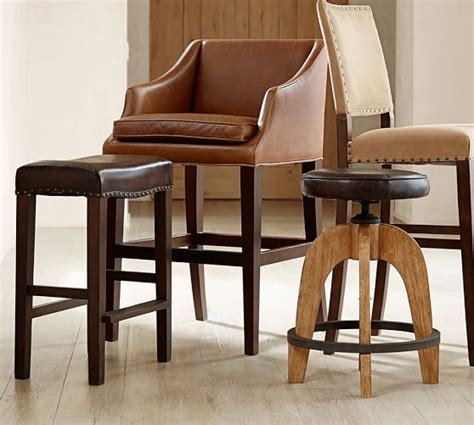 Pottery Barn Bar Stools Clearance by Weyburn Leather Barstool Pottery Barn