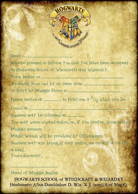 harry potter report card template invitation templates harry potter invitations