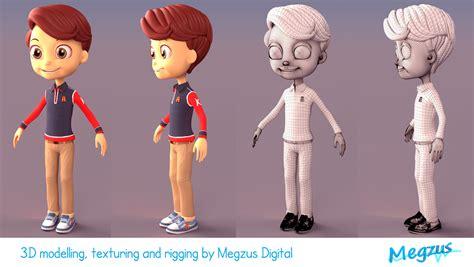 3d Kid artstation 3d boy character for product branding
