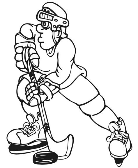 coloring page of hockey puck hockey player coloring pages coloring home