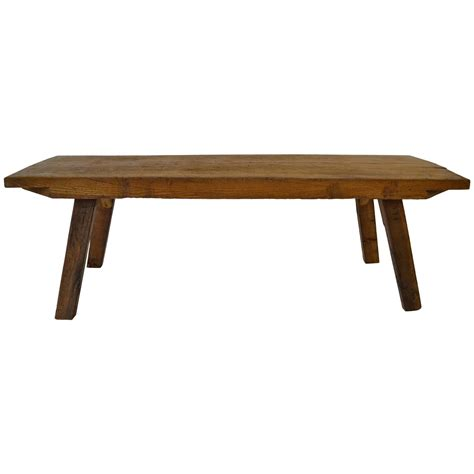 Butcher Block Coffee Table Oak Butcher S Block Coffee Table At 1stdibs