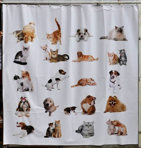 cat and dog shower curtain cats and dogs shower curtain