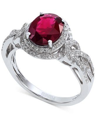 Ruby 9 10ct effy ruby 1 9 10 ct t w and 1 3 ct t w