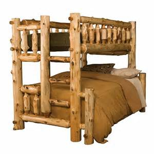 log bunk bed rustic cedar log bunk bed twinfull right ladder