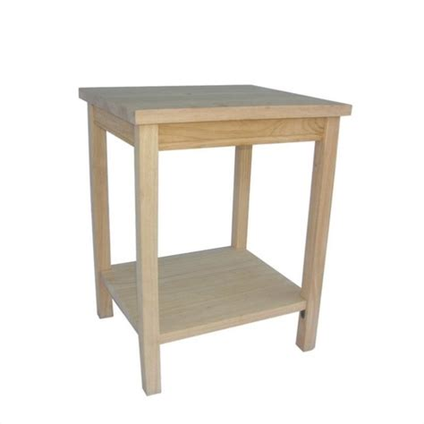 Table Ready by Unfinished Accent Table Ready To Assemble Ot 41