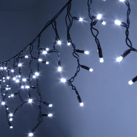 Outdoor Icicle Led String Light Sets Connevans String Lights Outdoor