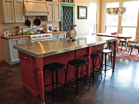 kitchen island with seating area diy kitchen island with seating area hgtv