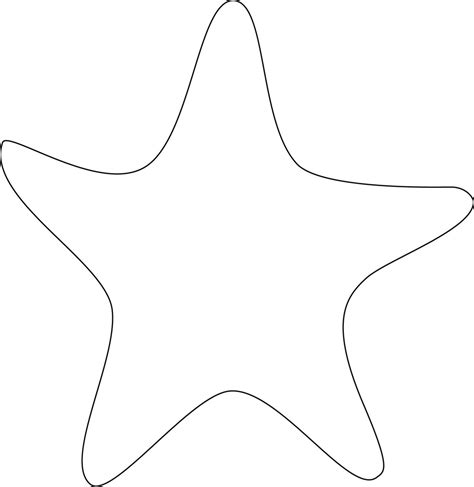 template of starfish starfish outline clipart best