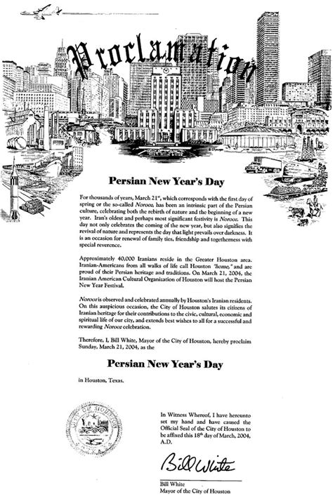 new year proclamation new year s proclamation in houston