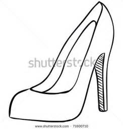 High Heel Shoes Outline by Best Photos Of Printable Stiletto Shoe Templates High Heel Shoes Template High Heel Shoe