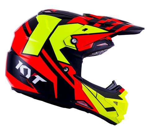 Helm Cross Kyt kyt cross ktime motocross helmet yellow motorcycle helmets accessories enduro