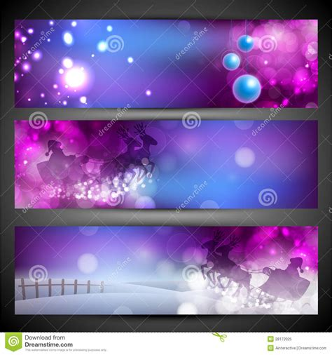 merry christmas website header  banner set stock vector image
