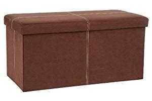 Microsuede Storage Ottoman Fhe Microsuede Folding Storage Ottoman Bench 30 By 15 By 15 Inches Brown Ca