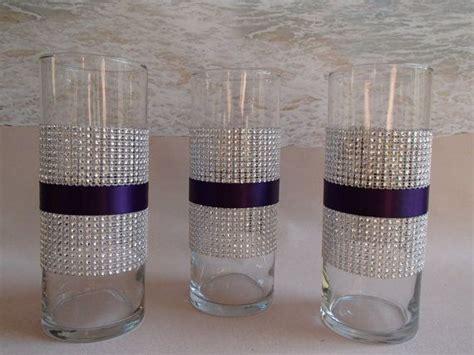 bling vase    silver diamond mesh