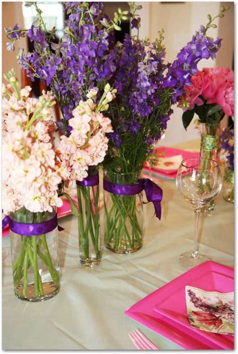pink bridal shower centerpieces how to make peony centerpieces for a diy wedding shower budget wedding flower inspiration