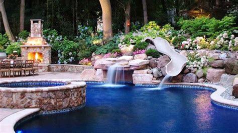 Stunning Inground Pool Designs Ideas : Small Inground