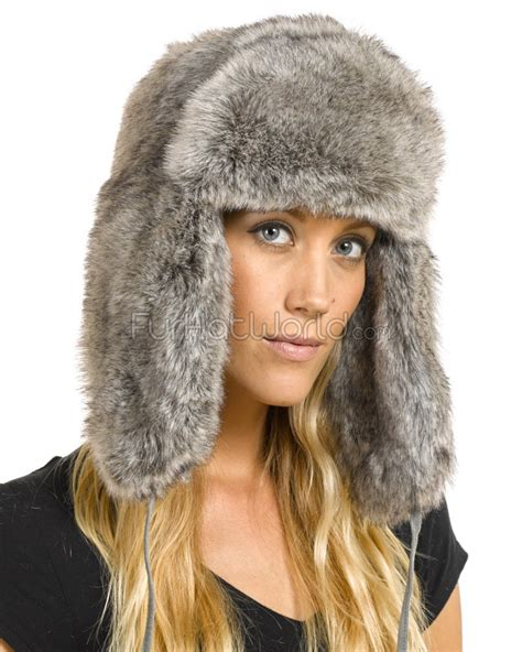 the sochi faux fur russian hat in grey furhatworld