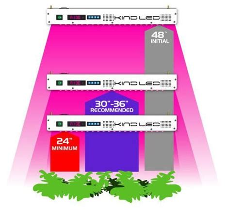 led grow light distance from plant led k5 xl1000 led grow light distance from