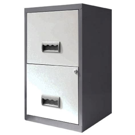 2 drawer a4 filing cabinet silver white staples 174