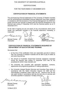 Certification Letter For Financial Statements certification of financial statements annual report
