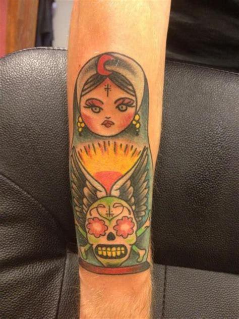 arm  school matryoshka tattoo  amigo ink