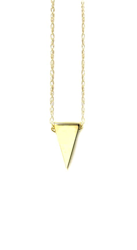 Triangle Pendant Necklace albeit jewelry pendant necklaces 14k white gold triangle