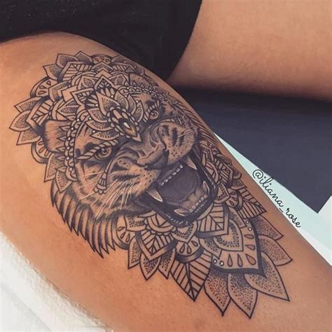 25 best ideas about lion thigh tattoo on pinterest