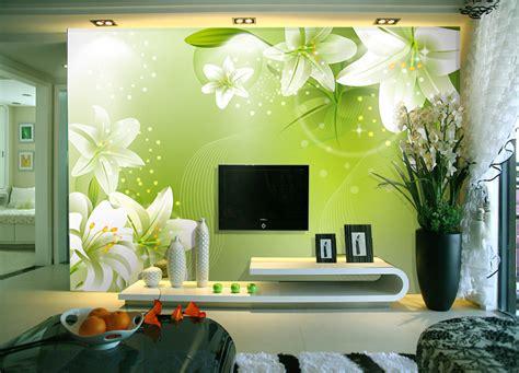 green wallpaper living room modern living room tv backdrop wallpaper painted wall murals 3d stereoscopic wallpaper
