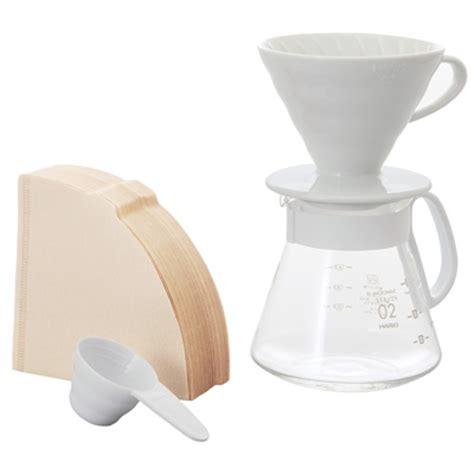 Bonus Cloth Filter V60 Ukuran 02 Coffee Dripper Gater Mirip Hario v60 ceramic dripper 02 set hario co ltd