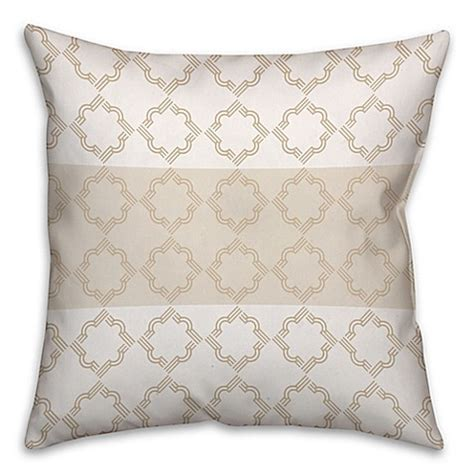 quatrefoil throw pillow quatrefoil pattern square throw pillow in ivory beige