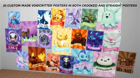my sims 4 blog 02 11 16 my sims 4 blog voidcritter plushie nymphaea and posters